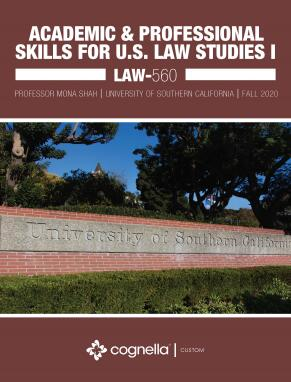 Academic and Professional Skills for U.S. Law Studies I (Cognella Course Pack)