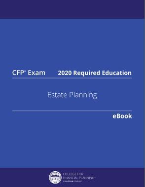 CFP Exam 516 Estate Planning 2020